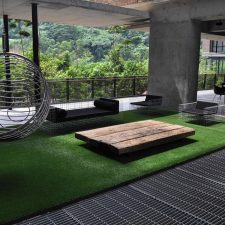 Artificial Grass with minimalist furniture