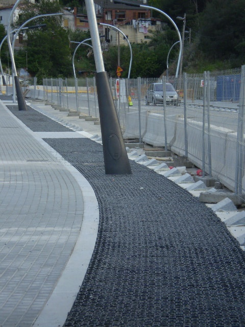 Permeable Paving In A Parking Lot