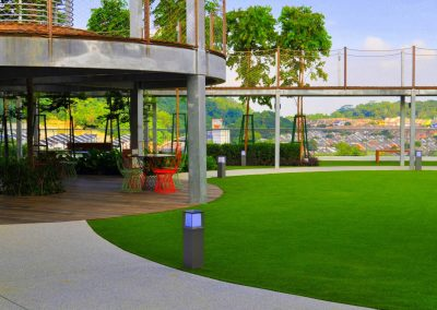 Relaxation Areas in Desa Park City Fitted With Artificial Grass