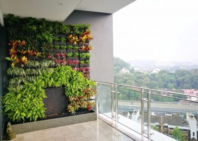 Vertical Garden On Residential Balcony